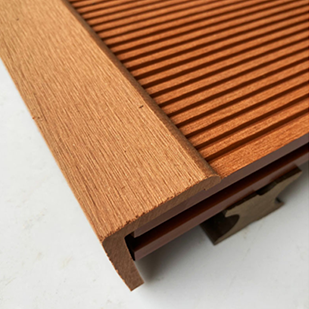 How to match the edge banding when installing composite decking