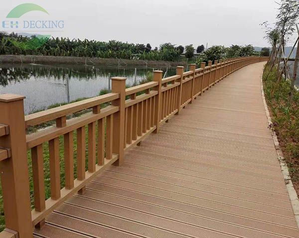 WPC decking and handrail