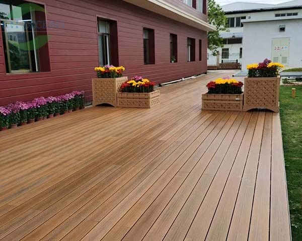 3D embossed WPC decking